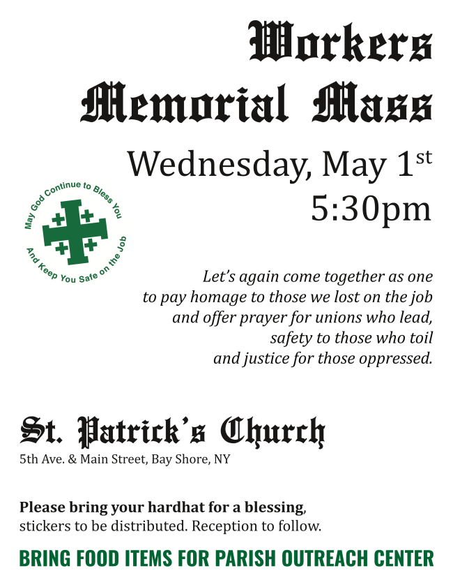 Workers Memorial Mass - May 1st | Laborers 66