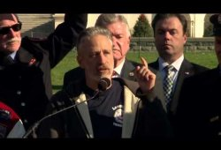 Jon Stewart Press Conference to #Renew911Health on 12/8/15